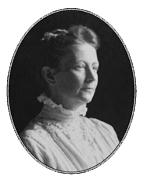 Elisabeth Leseur at home in Paris, 1910.